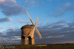 Chesterton Windmill, at dusk
