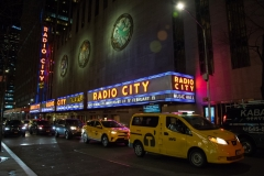 Yellow Taxis Outside Radio City